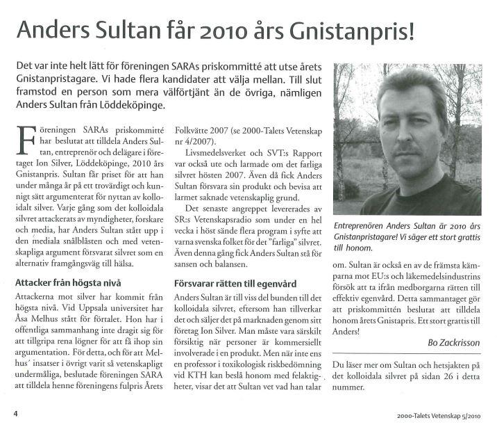 Anders_sultanGnistanpriset 2010